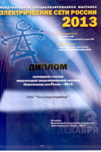 Diploma of Electrical Russia networks 2013