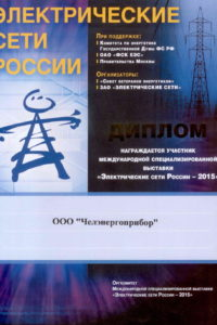 Diploma of Electrical Russia networks 2015