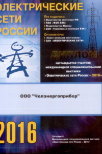 Diploma of Electrical Russia networks 2016
